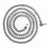 "14K White Gold 26"" Men's Tennis Chain With 8.75 CT Diamonds"