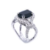 18K White Gold Round Shaped Sapphire Ring