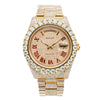 18K Yellow Gold Rolex Day-Date II 218238 41mm Champagne with Red Roman Numerals Dial with 21.75CT Diamonds