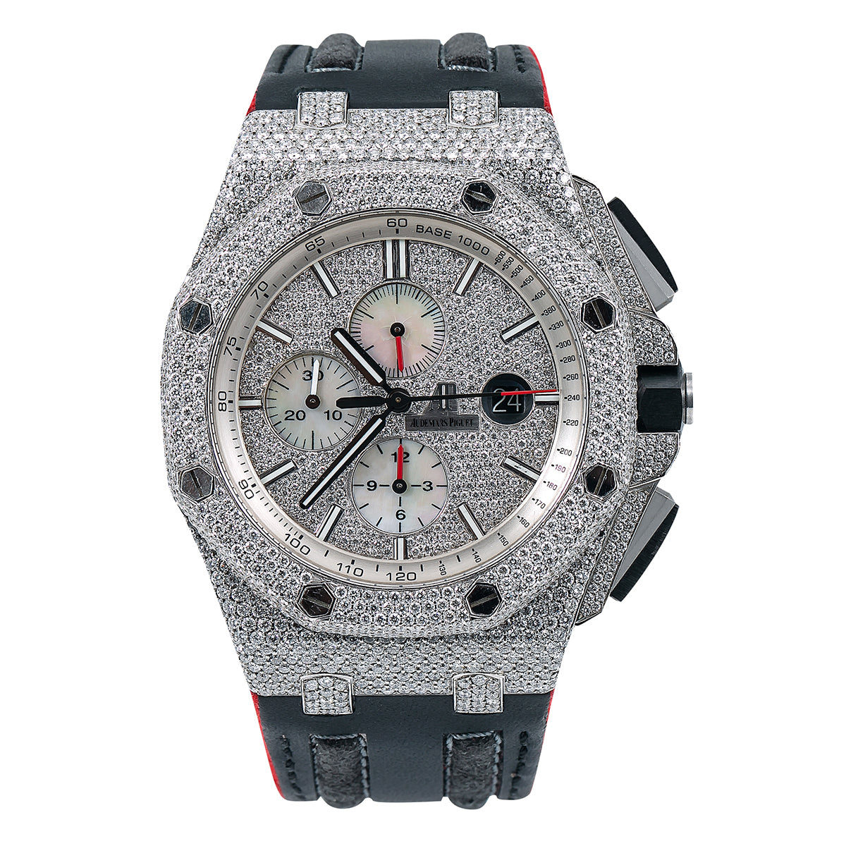 Audemars Piguet Royal Oak Offshore 26170ST Silver Diamond Dial With Leather Bracelet