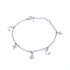 18K White  Gold  Women Bracelet With Small Pendants