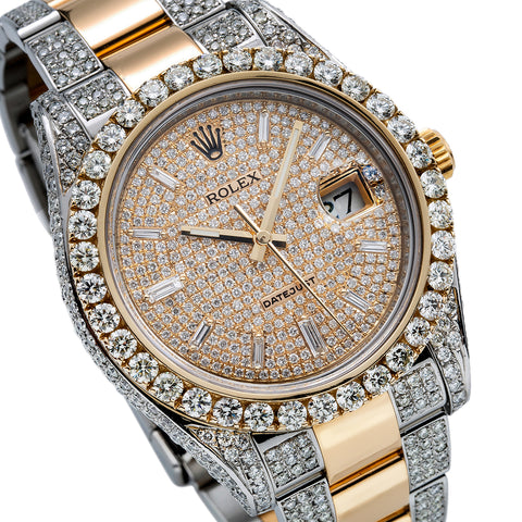 Rolex Datejust II Diamond Watch, 116333 41mm, Champagne Dial With 12.5CT Diamonds