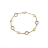 18K Yellow Gold  Women Bracelet With Circles