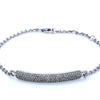 18K White Gold Oval Shaped Women Bracelet