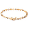 14K Yellow Gold Women Bracelet With Small Balls