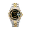 Rolex Datejust Diamond Watch, 1603 36mm, Black Diamond Dial With 3.75 CT Diamonds