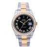 Rolex Datejust II 116333 41MM Black Diamond Dial With Two Tone Oyster Bracelet