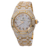 Audemars Piguet Royal Oak Lady 67076BA 27MM Champagne Diamond Dial With 17.95 CT Diamonds