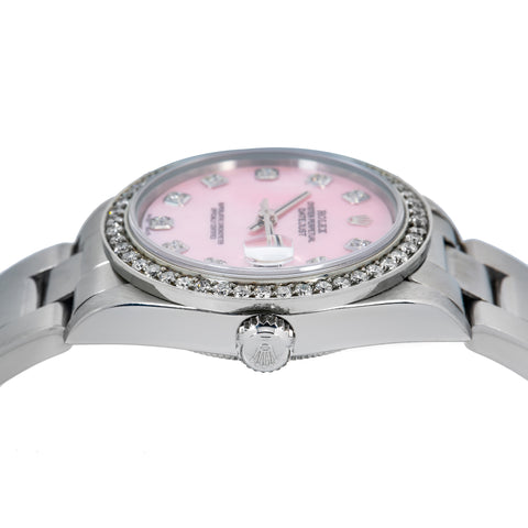 Rolex Lady-Datejust 78240 31MM Pink Diamond Dial With 1.05 CT Diamonds
