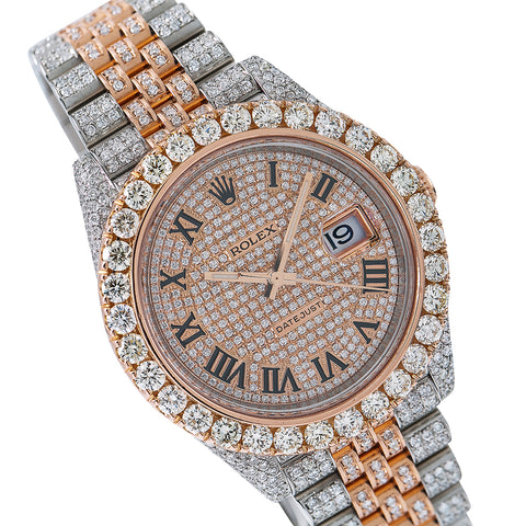 Rolex Datejust II Diamond Watch, 126331 41mm, Rose Gold Diamond Dial With Two Tone Jubilee BraceletWith 22.5 CT Diamonds