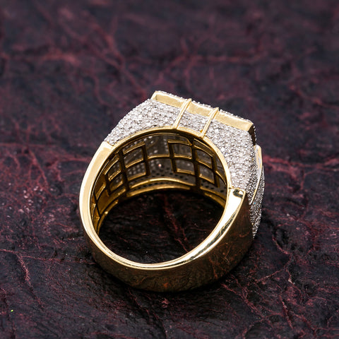 MEN'S 14K YELLOW GOLD RING WITH 2.08 CT DIAMONDS