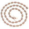 "14K Rose Gold & White Gold 22"" Men's Fancy Chain  With 8.10 CT Diamonds"