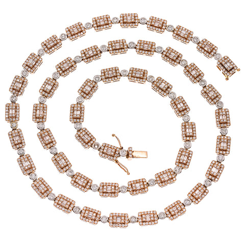 14K Rose Gold & White Gold 22