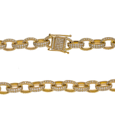"14K Yellow Gold 18"" Women's Necklace With 28.36 CT Diamonds"
