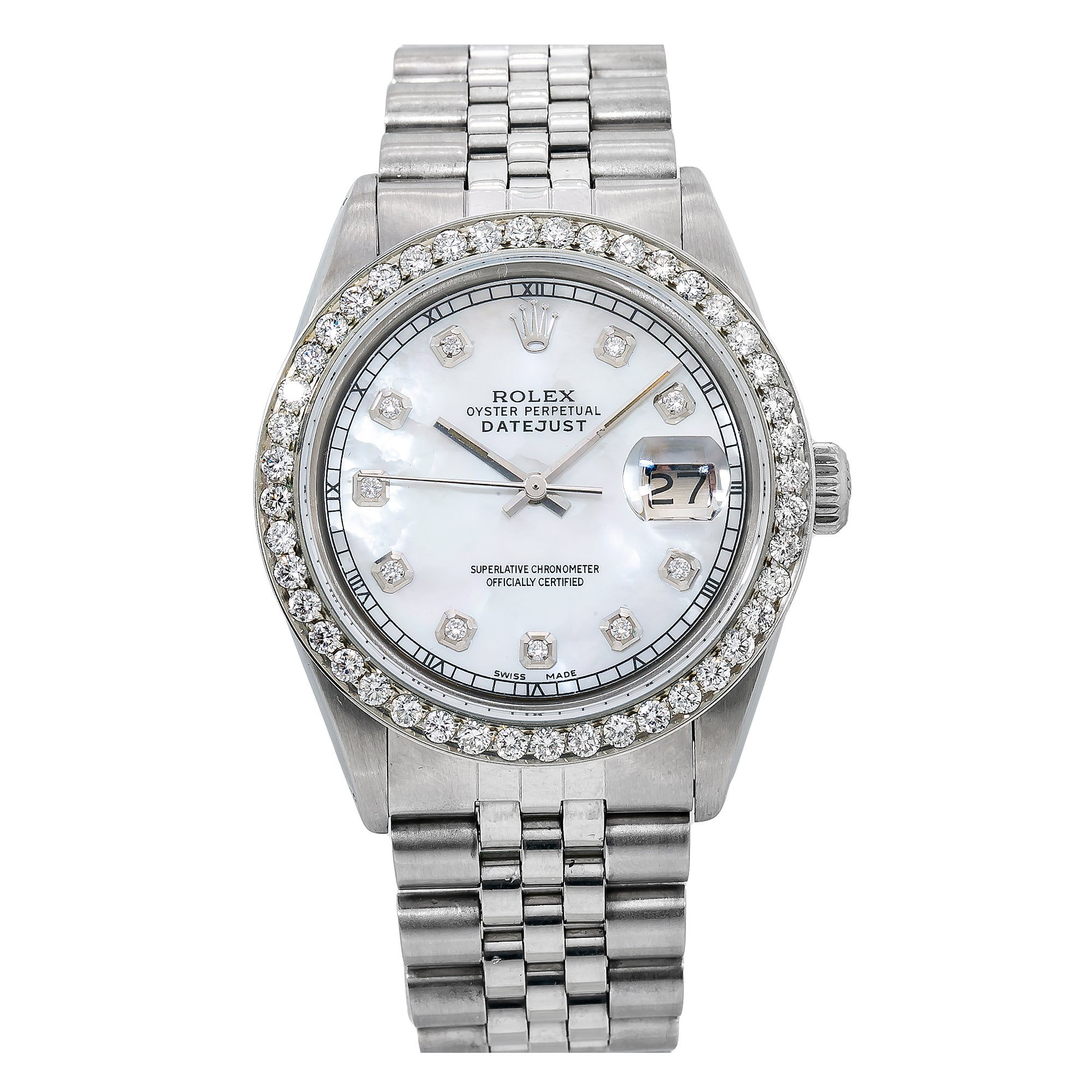 Rolex Datejust 1601 36MM Silver Diamond Dial With 1.25 CT Diamonds