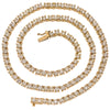 "14K Yellow Gold 20"" Men's Tennis Chain With 29.50 CT Diamonds"