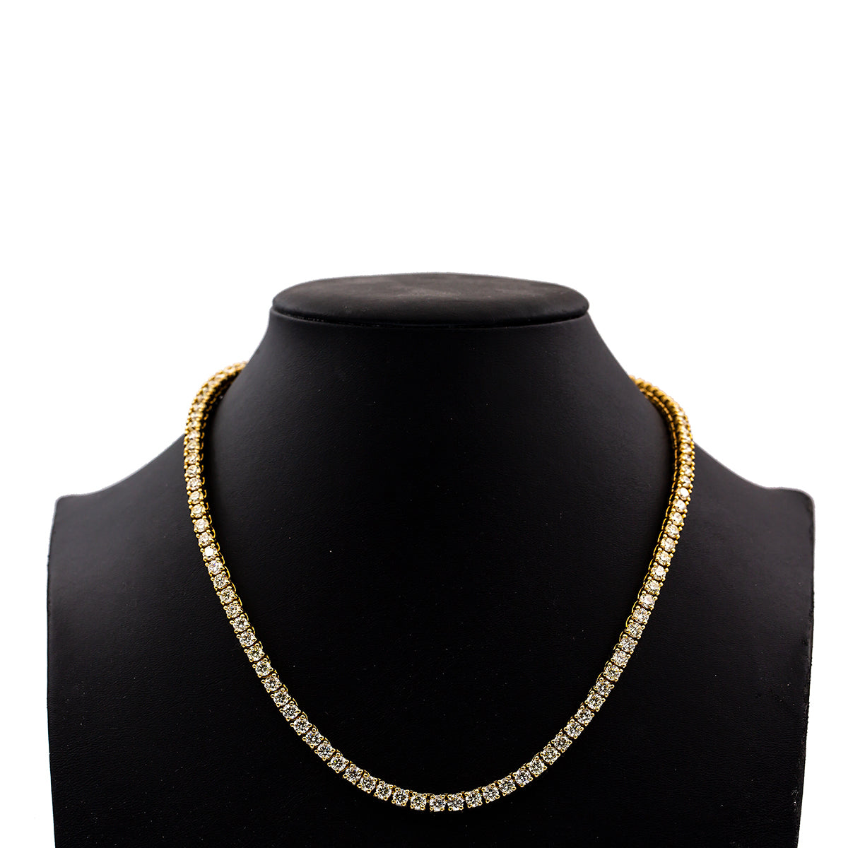 "14K Yellow Gold 20"" Women's Necklace With 29.50 CT Diamonds"