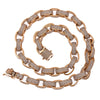"14K Rose Gold 20"" Men's Custom Diamond Chain With 48.46 CT Diamonds"