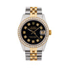 Rolex Datejust 68273 31MM Black Diamond Dial With Two Tone Bracelet