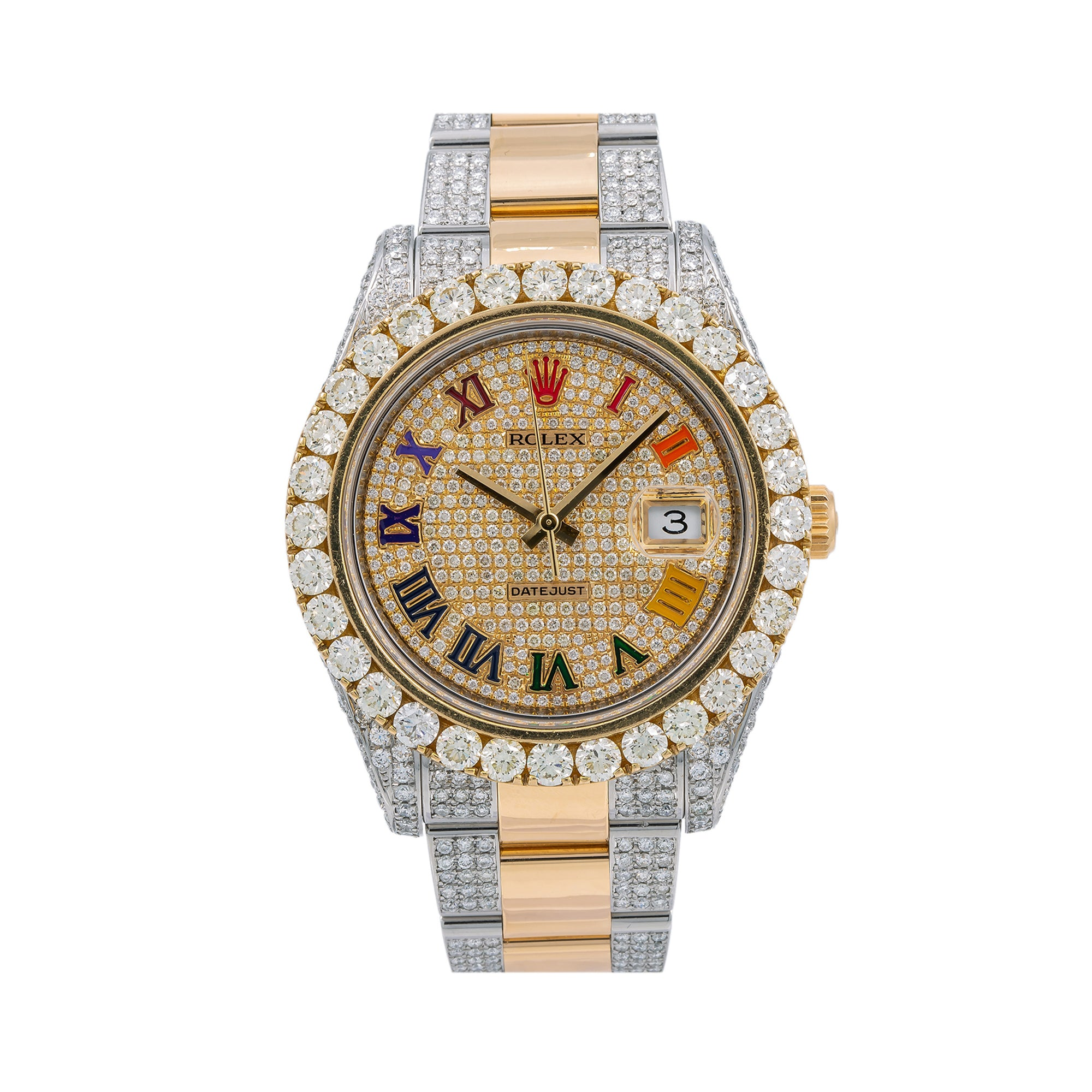 Rolex Datejust II 116333 41MM Champagne Diamond Dial With Two Tone Oyster Bracelet