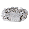 "14K White Gold 8"" Women's Bracelet With 25.42 CT Diamonds"