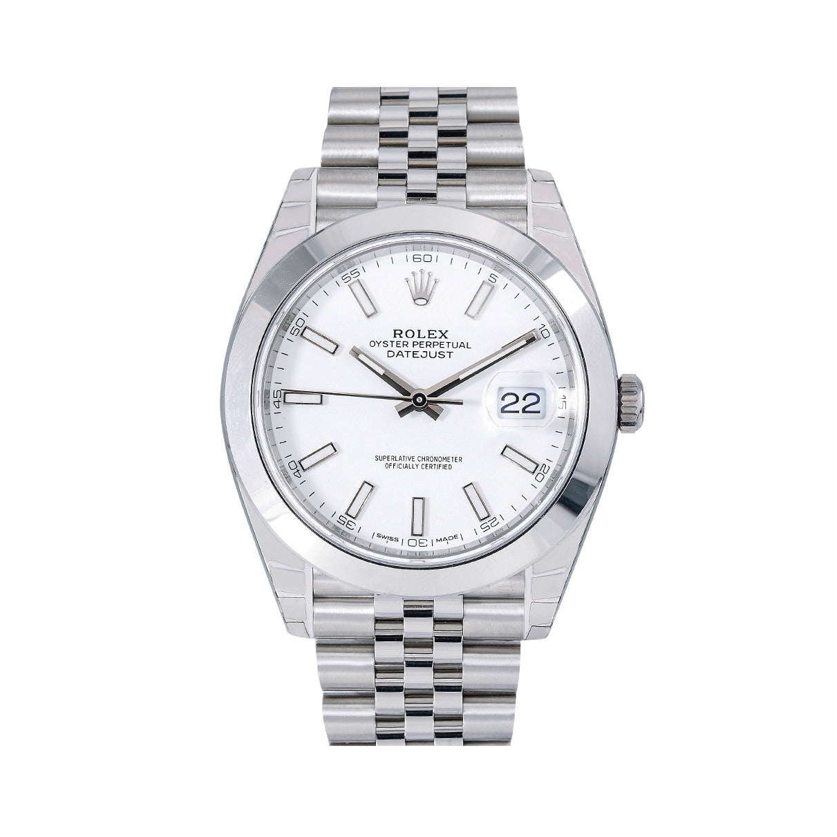 Rolex Datejust 126300 41MM White Dial With Stainless Steel Jubilee Bracelet