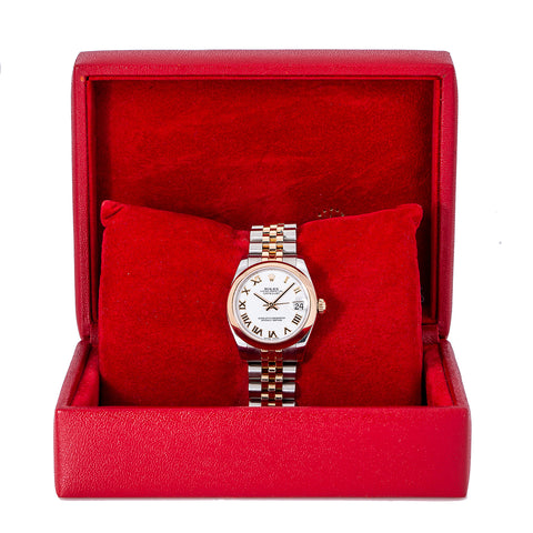 Rolex Datejust 178241 31MM White Dial With Two Tone Jubilee Bracelet