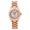 Rolex Lady-Datejust 179175 Pink Dial With Rose Gold President Bracelet