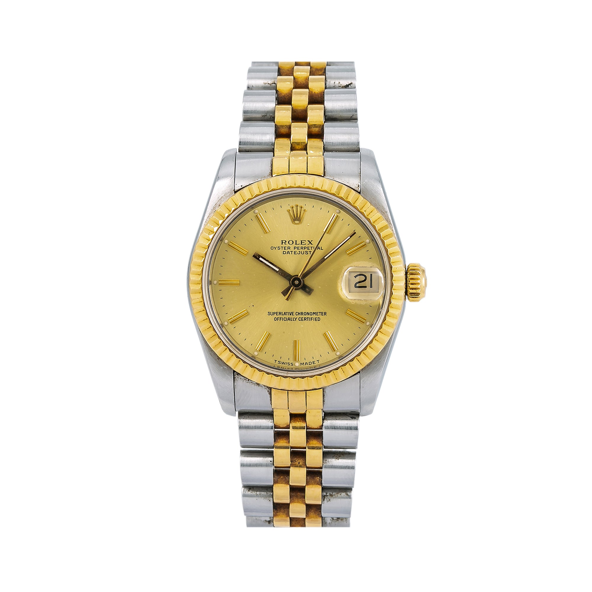 Rolex Lady-Datejust 68273 31MM Champagne Dial With Yellow Gold Jubilee Bracelet
