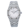 Audemars Piguet Royal Oak Lady 67651ST 33MM White Dial With 18.25 CT Diamonds