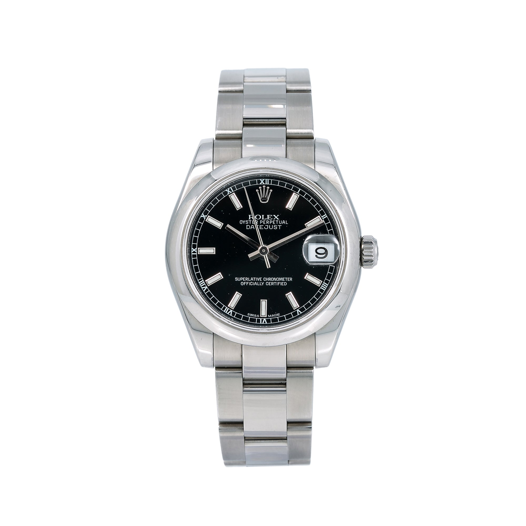 Rolex Lady-Datejust 78240 31MM Black Dial With Stainless Steel Oyster Bracelet