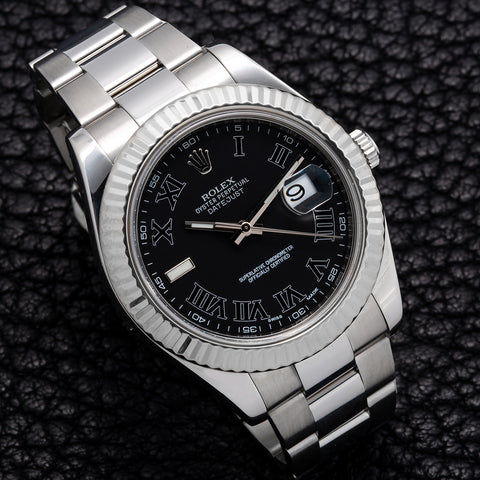 Rolex DateJust II 116334 41mm Black Dial with Roman Numerals