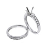 18K White Gold Double Round Shape Ring