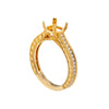 18K Yellow Gold Round Shape Ring