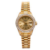 18K Yellow Gold Rolex DateJust President 69178 Champagne Dial With 0.80CT Diamond Bezel