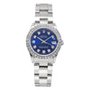 Rolex DateJust Diamond Watch, 31mm, Blue Dial With 1.05CT Diamond Bezel