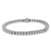 14K White Gold Men's Tennis Bracelet With 12.50 CT Diamonds