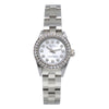 Rolex Oyster Perpetual 67193 26mm White Mother of Pearl Dial with 0.90Ct Diamond Bezel