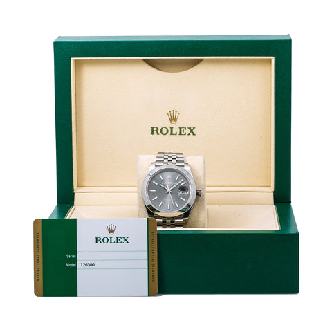 Rolex Datejust 126300 41MM Black Dial With Stainless Steel Bracelet