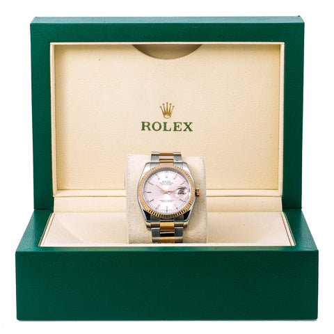 Rolex Datejust 116231 36MM Pink Dial With Two Tone Oyster Bracelet