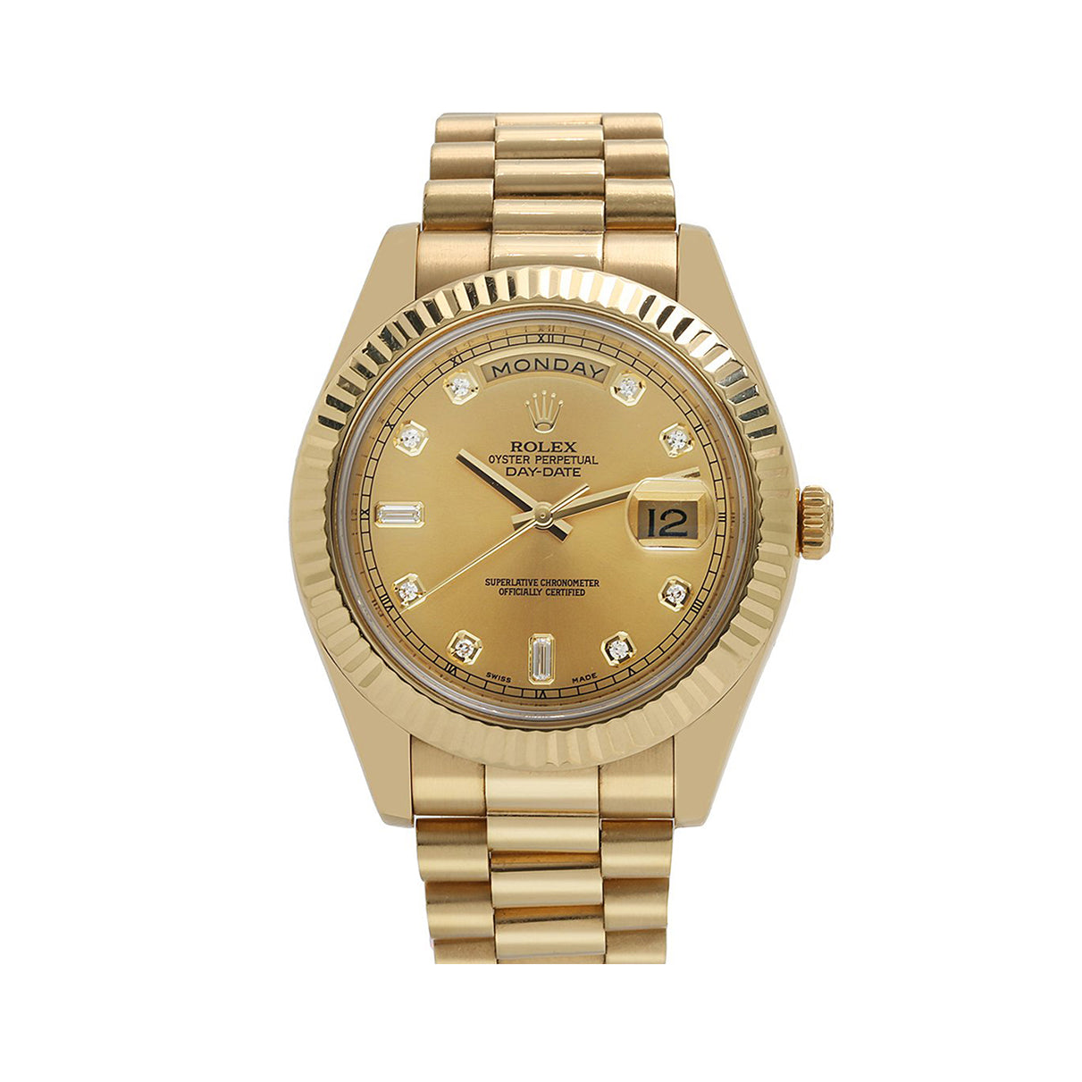 18K Yellow Gold Rolex Day-Date II 218238 41mm Champagne Dial