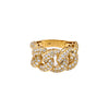 14K YELLOW GOLD LADIES RING WITH 3,25 CT  DIAMONDS