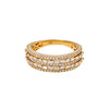 14K YELLOW GOLD LADIES RING WITH 1.12 CT  DIAMONDS