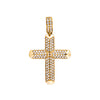14K YELLOW GOLD UNISEX CROSS WITH 1.15 CT  DIAMONDS