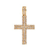 14K YELLOW GOLD UNISEX CROSS WITH 1.22 CT  DIAMONDS