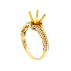 18K Yellow Semi Mount Gold Round Shaped Ring