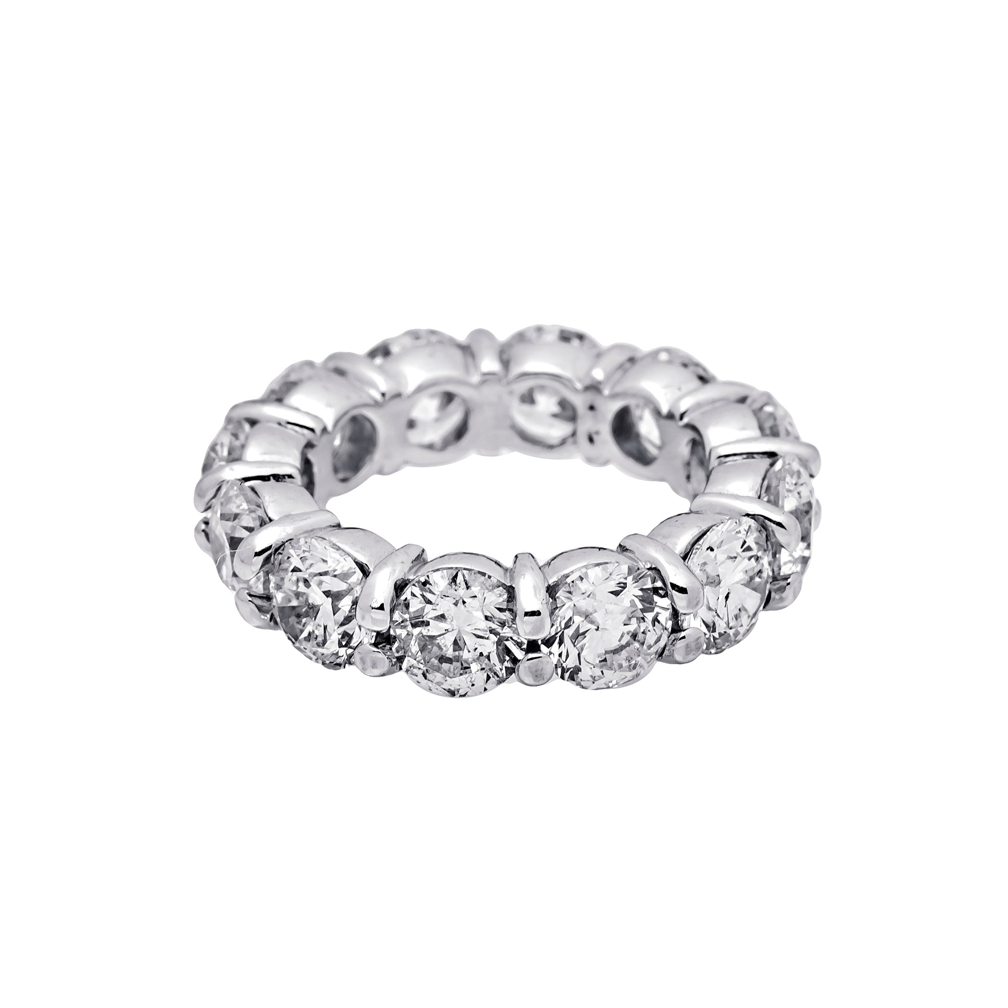 14K WHITE GOLD LADIES RING WITH 8.71 CT  DIAMONDS