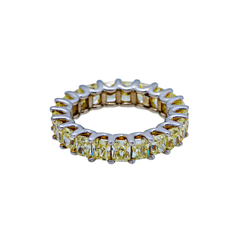 14K WHITE GOLD MEN'S RING WITH 6.03 CT  DIAMONDS