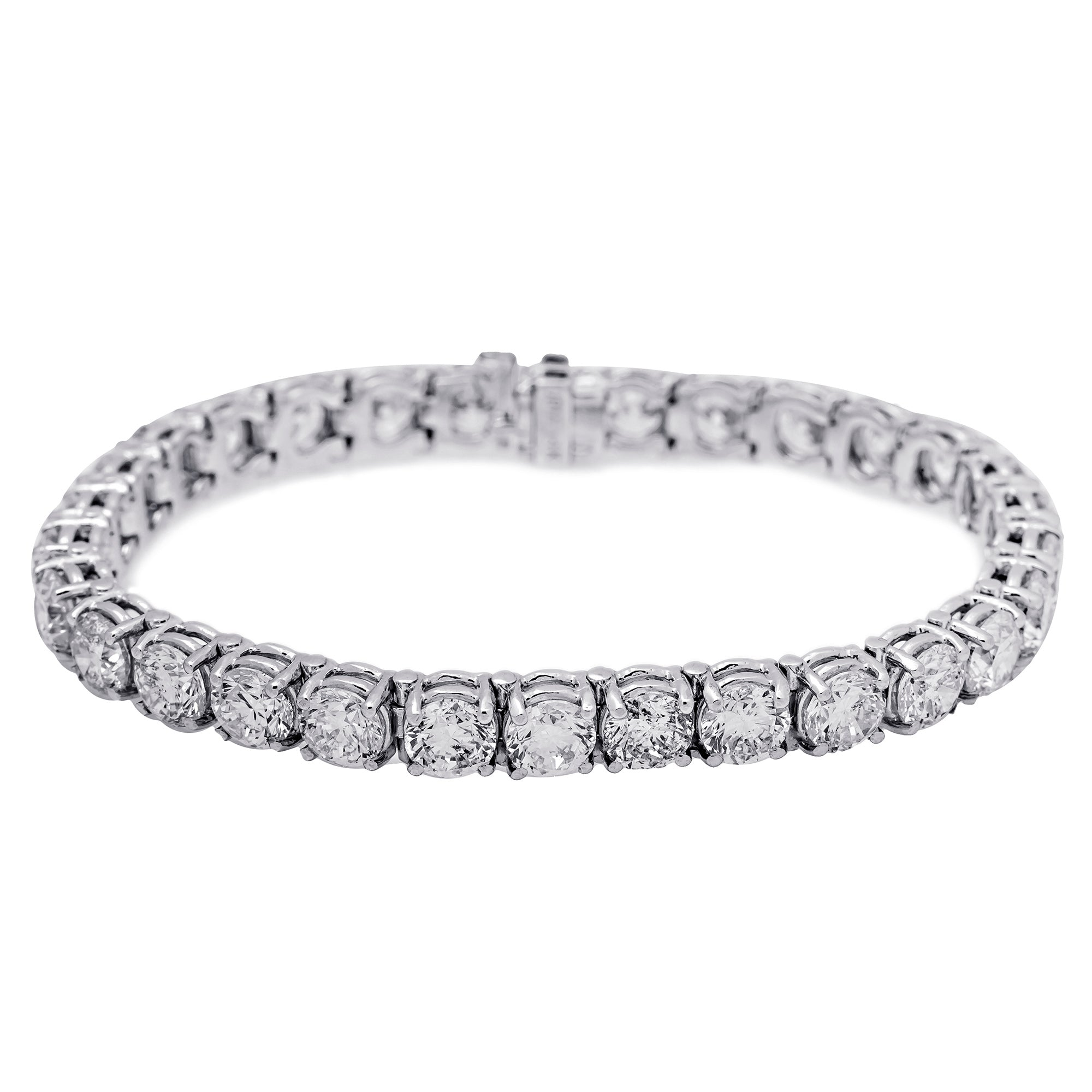 14K WHITE GOLD UNISEX BRACELET WITH 21.25 CT  DIAMONDS