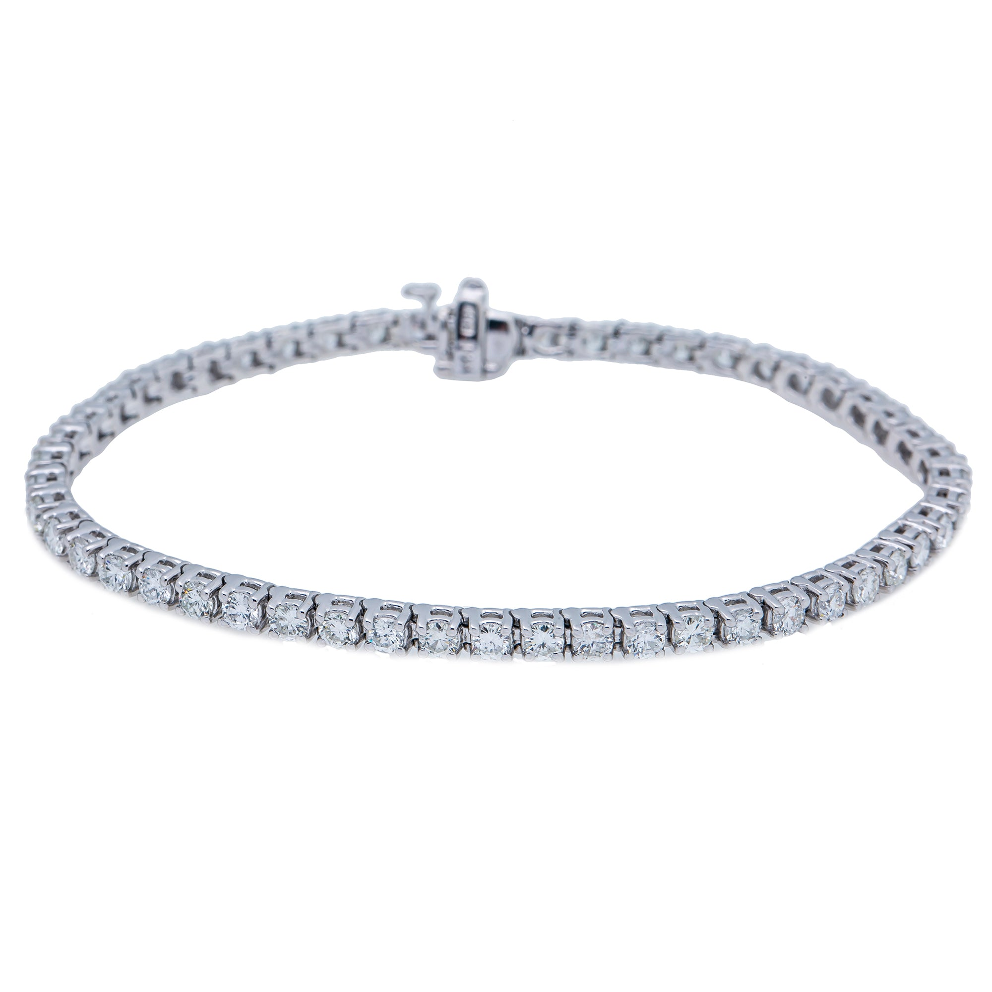 14K WHITE GOLD UNISEX BRACELET WITH 4.25 CT  DIAMONDS